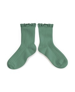 꼴레지앙 Lili Lace Trim Ankle Socks_celadon(3455 748)