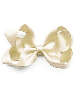 베르티존스 Medium Hair clip Satin_Antique White