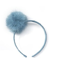 베르티존스 Pom Pom Alice Band_ANTIQUE BLUE