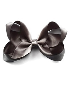 베르티존스 Medium Hair clip Satin_Charcoal