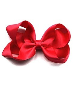 베르티존스 Medium Hair clip Satin_Ruby