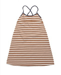 카라멜 TOOTING DRESS_BROWN STRIPE