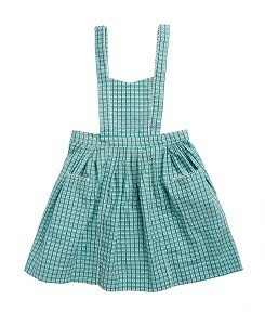 카라멜 Donnington Pinafore_Tourmaline Painted Check