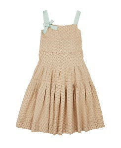 카라멜 ANGEL DRESS_GREEN POLKA DOT