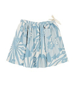 카라멜 Norton Skirt_Blue Flower Print