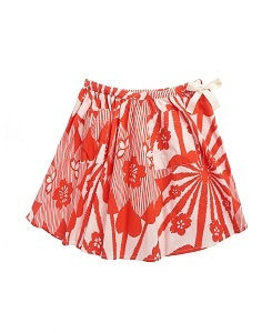 카라멜 Norton Skirt_Red Flower Print