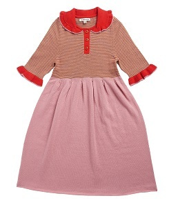 카라멜 PORTOBELLO KNITTED DRESS_PINK STRIPE