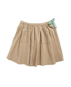 카라멜 NORTON SKIRT_GREEN POLKA DOT