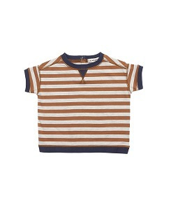 카라멜 BALHAM BABY T-SHIRT_BROWN STRIPE