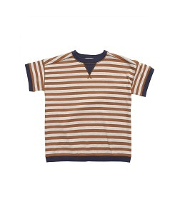 카라멜 BALHAM T-SHIRT_BROWN STRIPE
