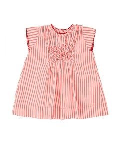카라멜 Clapham Baby Dress_Berry Stripe