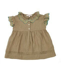 카라멜 SLOANE SQUARE BABY DRESS_SAGE