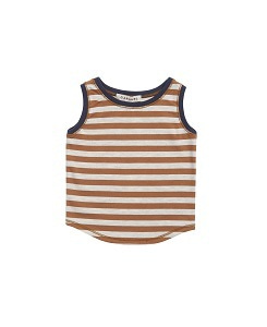 카라멜 Aldwych Baby Vest_Brown Stripe