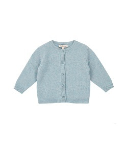 카라멜 Waterloo Baby Cashmere Cardigan_Pigeon Blue