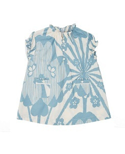 카라멜 Notting Hill Baby Dress_Blue Flower Print