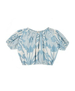 카라멜 QUEENS PARK BLOUSE_BLUE FLOWER P.