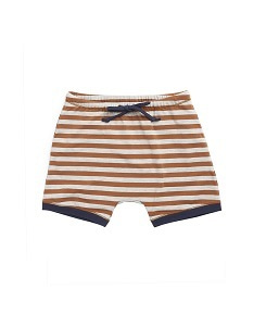 카라멜 BELGRAVIA BABY SHORTS_BROWN STRIPE