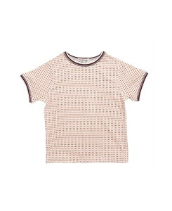 카라멜 MUSWELL T-SHIRT_BRICK GEO CHECK
