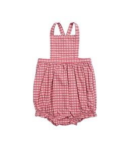 카라멜 Moorgate Baby Romper_Red Painted Check