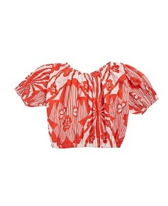 카라멜 QUEENS PARK BLOUSE_RED FLOWER P.