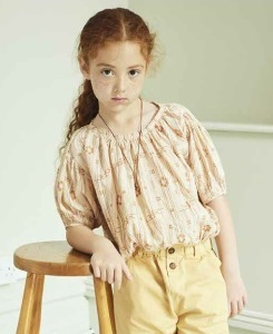 카라멜 QUEENS PARK BLOUSE_ROSE TAN