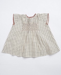 카라멜 CLAPHAM BABY DRESS_BLACK CREAM