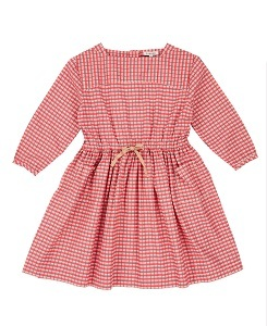 카라멜 Knightsbridge Dress_Red Painted Check