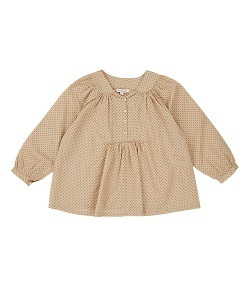 카라멜 VICTORIA BLOUSE_GREEN POLKA DOT
