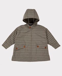 카라멜 BROMPTON RAINCOAT_CHECK GREY