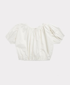 카라멜 QUEENS PARK BLOUSE_WHITE