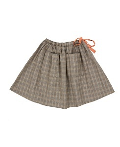 카라멜 Norton Skirt_Check Grey