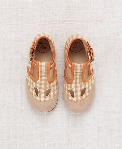미샤앤퍼프 Elmwood T-Strap Shoes_Gingham