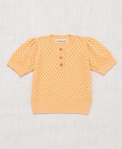 미샤앤퍼프 Eyelet Blouse_Peach