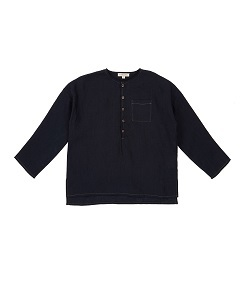 카라멜 Pimlico Shirt_Dark Navy