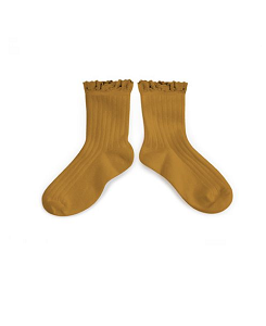 꼴레지앙 Lili Lace Trim Ankle Socks_Moutarde de Dijon(3455 C37)