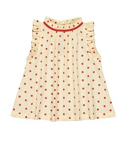 헬로시모네  misha blouse_dots red