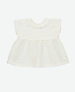 올리비에 Thea Top//Mustard Check Linen