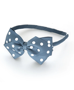 베르티존스  Alice Band Dot_Antique Blue