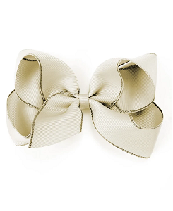 베르티존스 Large Hair Clip Gold Edge_Ivory