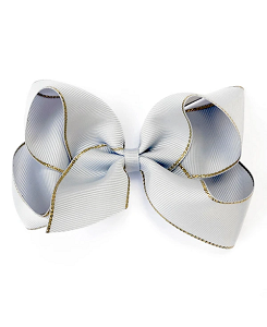베르티존스 Large Hair Clip Gold Edge_Shell Grey