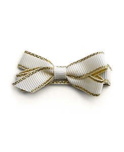 베르티존스 Small Gold Edge Hair Clip_Ivory
