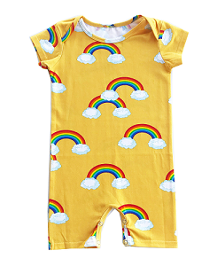 로미러브스루루 SHORT ROMPER_RAINBOW YELLOW