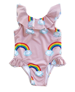 로미러브스루루 SWIMSUIT_RAINBOW PINK