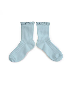 꼴레지앙 Lili Lace Trim Ankle Socks_Aigue Marine(3455 132)