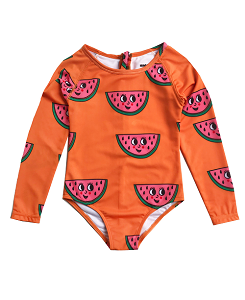 휴고러브스티키 SURF ONESIE_WATERMELON ORANGE