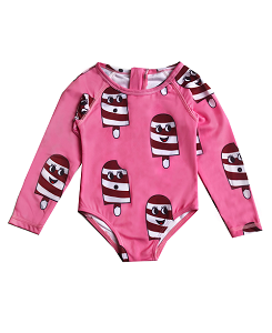 휴고러브스티키 SURF ONESIE_ICE CREAM PINK