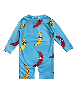휴고러브스티키 RASH GUARD_BANANA  BLUE