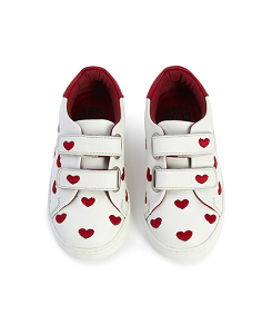 봉통 Embroidered Heart Sneakers