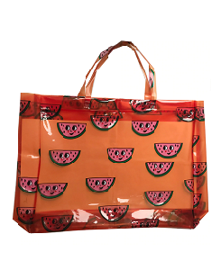 휴고러브스티키 Beach Bag - Watermelon Orange
