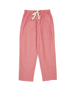 카라멜 Chelsea Trousers_Red Painted Check